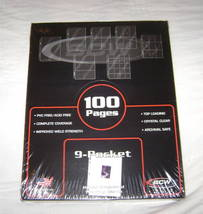 100 9-POCKET TRADING CARD GAME BINDER PAGES CCG TCG NEW - $24.95