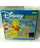Disney MY FRIEND POOH  Puzzle Winnie Piglet Photomosaics 1000pc SEALED w... - $44.50