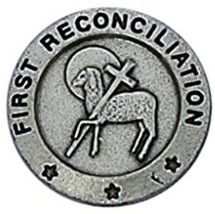 First Reconciliation With Lamb And Cross 3/4-in... - $9.60