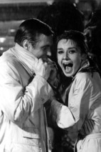 Audrey Hepburn and George Peppard in Breakfast at Tiffany's laughing in ... - $23.99