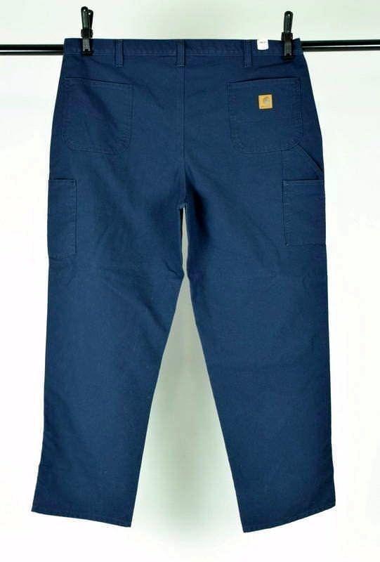 NWT CARHARTT Blue Cotton Dungaree Fit Carpenter Work Pants Mens Size 44 x 32 image 2