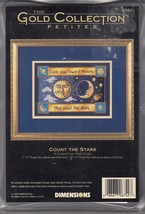 Dimensions Count The Stars Gold Collection Cross Stitch Kit Sealed 18 Co... - $14.84