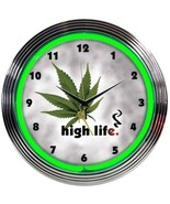 "High Life Leaf Pot Neon Clock 15""x15"" - $59.00"