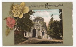 St Olof's Ruin Wisby Visby Rosornas Sweden 1910c postcard - $5.94