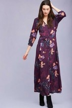 New Anthropologie Tianna Crepe Maxi Dress By Rinku Dalamal MEDIUM Purple... - $84.05 CAD