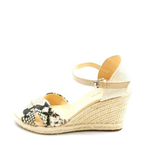 Nine West Womens JoyDyn8 Espadrille Ankle Strap Sandals Snake Skin 8M  - $32.21