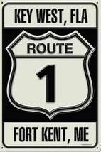 Key West Florida Route 1 Metal Sign - $29.95
