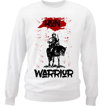 HUN WARRIOR - NEW WHITE COTTON SWEATSHIRT - $32.75