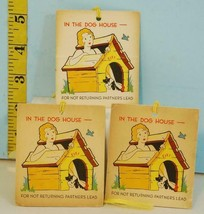 3 FIFI In The Dog House For Not Returning Partner Lead Bridge Tally Card... - $8.90