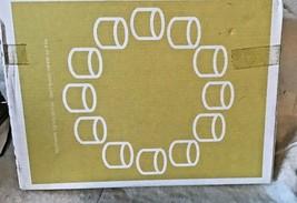 Ikea White Votive Interlocking Candle Holders Varmeljushallare Sweden 2013 rare - $29.16