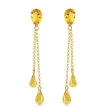 7.5 Ct 14K Solid Gold Eloquence Citrine Earrings Womens Girls Gemstone Jewelry - $336.55