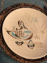 RED WING POTTERY BOB WHITE Blue Quail Bird Dinner Plate (2 available) EXCELLENT image 2