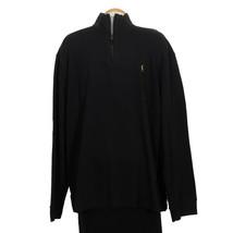 POLO RALPH LAUREN Black Cotton Estate Rib Half Zip Pullover Sweater 3XB - $59.99