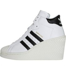 adidas Originals Womens Superstar Ellure Platform Shoes White and Black - $150.36