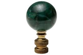 Beautiful Green Marble Style Jade Stone Ball Table Lamp Finial - $15.84