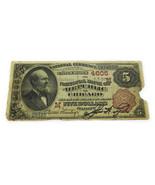 FR-472 1882 Series $5 Large Size National Bank Note Chicago Illinois VG ... - €406,28 EUR