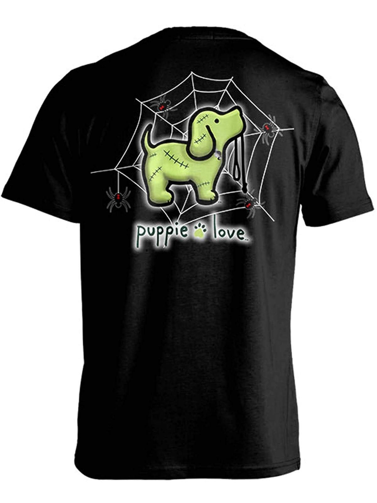Puppie Love Rescue Dog Adult Unisex Short Sleeve Graphic TShirt,Franken Pup