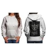 Lamb Of God Logo Classic Hoodie Women White - $31.99
