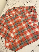 bp plaid pajama top XL new red white soft - $13.00