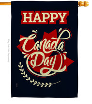 Happy Anniversary Canada - Impressions Decorative House Flag H192251-BO - $40.97
