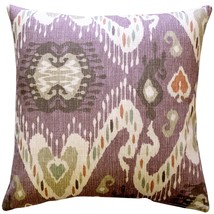 Pillow Decor - Solo Mulberry Ikat Throw Pillow 20x20 - £45.93 GBP