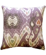 Pillow Decor - Solo Mulberry Ikat Throw Pillow 20x20 - $59.95