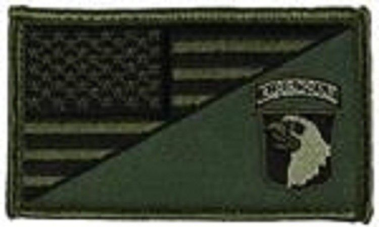 Primary image for ARMY 101ST AIRBORNE OD GREEN FLAG 2 X 3  EMBROIDERED PATCH WITH HOOK LOOP