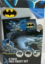 Batman DC Comics Full Size Bed Sheet Set 4 Piece  Free Microfiber D2 - $24.37