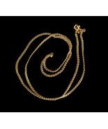 """Vintage 14k Gold Solid Unique Curb Mid Century 70s Disco Unisex Chain 20"""" - $611.99"""