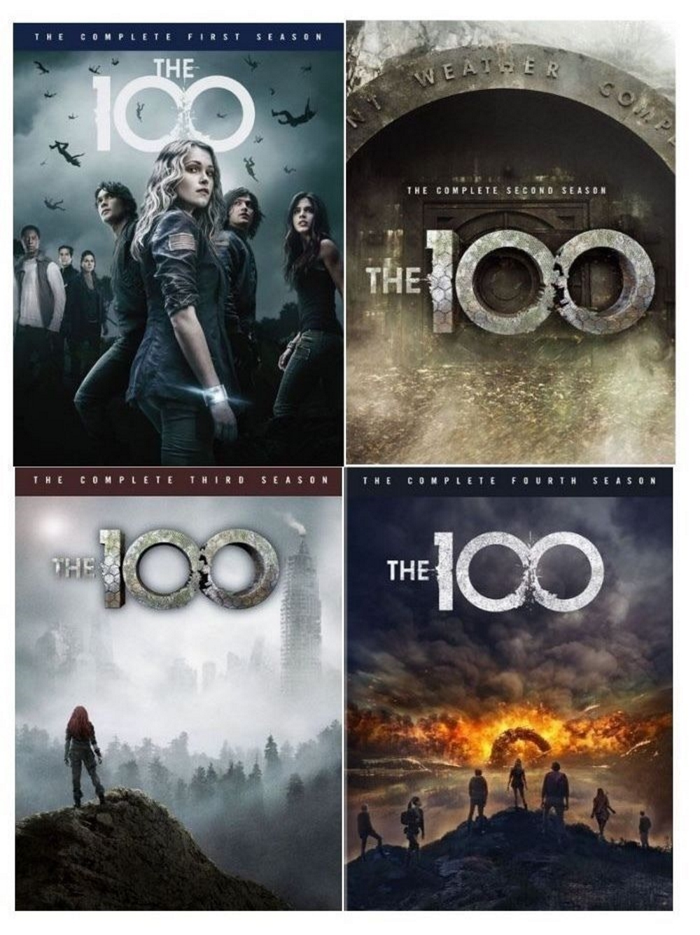 The 100 season 1 4 dvd 1 2 3 4