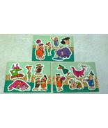 New Zealand Rare Flintstones 3x Sticker sheets Lot Quik Stik Internation... - $14.50