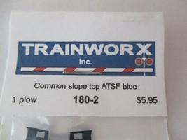 Trainworx Stock #180-2 Snowplow Common Slope Top ATSF Blue N-Scale- image 2