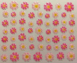 BANG STORE Nail Art 3D Decal Stickers Light & Dark Pink Flowers FUNNY CUTE - $3.15