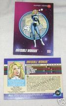 1992 MARVEL SERIES 3 III INVISIBLE WOMAN PROTOTYPE CARD - $1.95