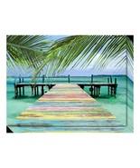 'Rainbow Dock' By Steve Vaughn Canvas Wall Art - $173.99
