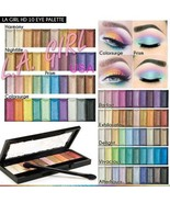 LA Girl HD High Definition 10 Color Eyeshadow Palette-Color Choice - $5.85