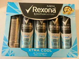 5X REXONA MEN MOTIONSENSE DEODORANT SPRAY Stay Fresh 150ml c/u 48H, FREE... - $29.70