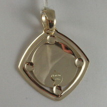 SOLID 9K YELLOW GOLD ANGEL PENDANT, SQUARE ANGEL MEDAL, MADE IN ITALY, 9KT image 2