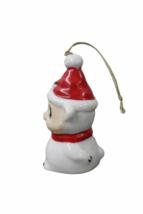 Set of (7) Genuine Bone China Christmas Sheep Figurine Ornament Lot Figure image 3