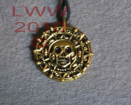 NEW Gold-Tone Pirate's Coin Pewter Amulet Medallion NEW - $6.45