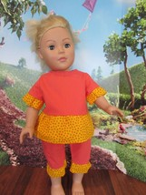 """madame alexander 2009   18"""" blonde hair blue eyes with homemade clothes - $29.70"""