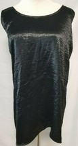 Women's Boutique + Plus Size Crushed Velvet Tank Top Criss Cross Back Bl... - $7.91