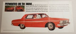 1962 Print Ad Plymouth 4-Door Red Car Chrysler 5 Year Warranty - $15.79