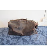 Antique Tanners Counsel Split Cowhide Brown Leather Doctor Bag Prop Set ... - $38.68