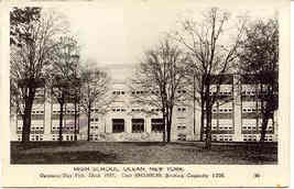 The New High School Olean New York Vintage 1937  Post Card - $5.00