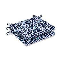 Pillow Perfect Outdoor | Indoor New Damask Marine Squared Corners Seat C... - $83.89