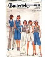 1970's CULOTTES, PANTS & VEST  Pattern 4803-b S... - $9.99