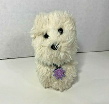 American Girl Coconut white puppy dog hard body weighted plush blue collar - $9.89