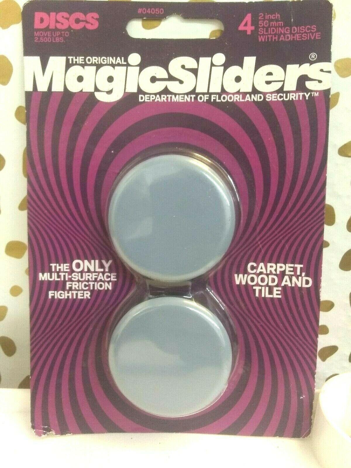 Magic Sliders 4 pack  2 In. Discs Self Adhesive Furniture Glide (SEALED)STORE