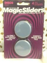 Magic Sliders 4 pack  2 In. Discs Self Adhesive Furniture Glide (SEALED)STORE image 1
